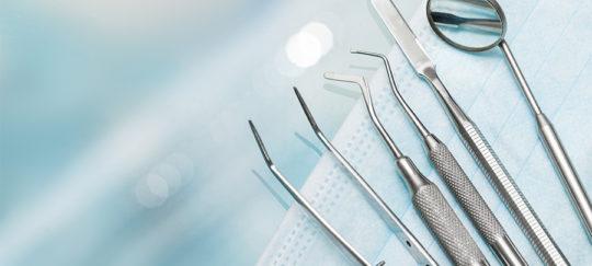 set of metal dentist equipement